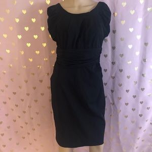 Diane Von Furstenberg lil black dress w ruching